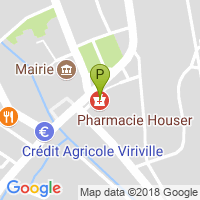 carte de la Pharmacie Houser