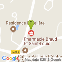 carte de la Pharmacie Braud et Saint Louis