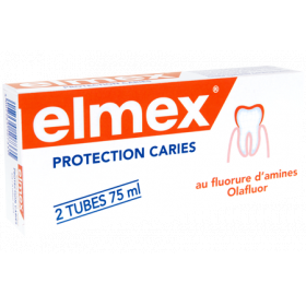 Protection caries dentifrice pack 2x75ml