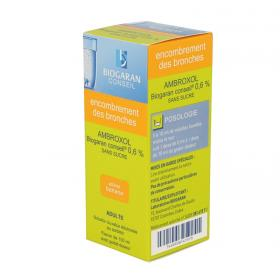 BIOGARAN Ambroxol conseil 0,6 % sans sucre solution buvable 100ml