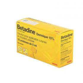 MEDA PHARMA Betadine dermique 10 unidoses 5ml