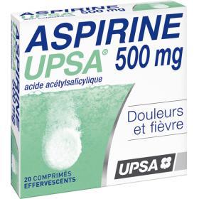 Aspirine 500mg 20 comprimés effervescents