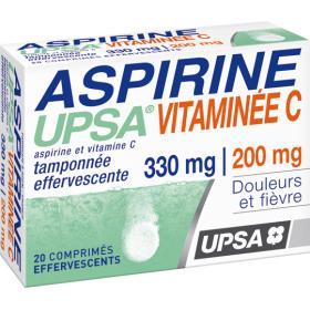 UPSA Aspirine vitaminée c 20 comprimés effervescents