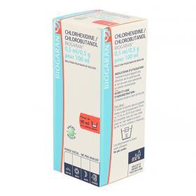 BIOGARAN Chlorhexidine chlorobutanol 0,5ml/0,5 g/100ml bain de bouche boîte de 1 flacon de 90ml