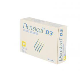 ZAMBON Densical vitamine D3 500mg/400 UI 3 tubes de 20 comprimés à sucer ou à croquer
