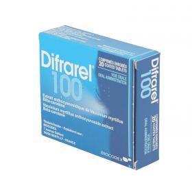 BIOCODEX Difrarel 100mg 20 comprimés enrobés