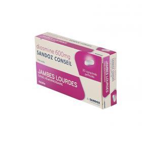 SANDOZ Diosmine conseil 600mg 30 comprimés pelliculés