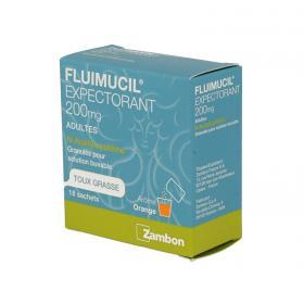 ZAMBON Fluimucil 200mg adultes granulés pour solution buvable 18 sachets