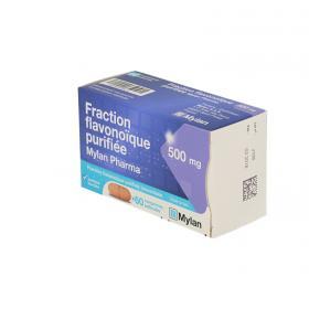 MYLAN Fraction flavonoique 60 comprimés pelliculés 500 mg