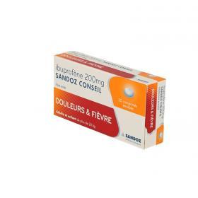 SANDOZ Ibuprofene conseil  200mg 20 comprimés enrobés