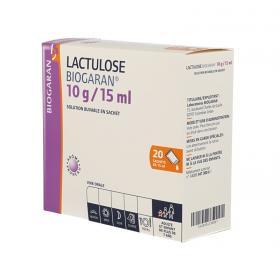 BIOGARAN Lactudose 10g solution buvable 20 sachets de 15ml