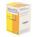 EFFIK Natecal vitamine D3 600mg/400 UI flacon de 60 comprimés orodispersibles