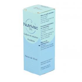 ALCON Nutrivisc 5% collyre en solution boîte de 1 flacon compte-gouttes de 10ml