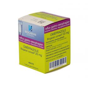 BIOGARAN Conseil omeprazole 20mg 7 gélules gastro-résistantes