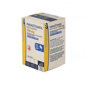 BIOGARAN Paracétamol 500mg poudre pour solution buvable boîte de 12 sachets-dose