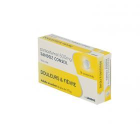 SANDOZ Paracetamol conseil 500mg 16 comprimés