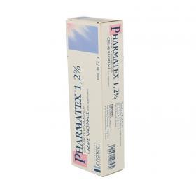 INNOTECH Pharmatex 1,2 % crème vaginale tube avec applicateur de 72g