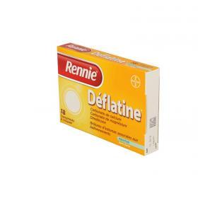 BAYER Rennie deflatine sans sucre 18 comprimés