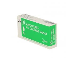 MERCK Suppositoires à la glycérine monot adultes 10 unités