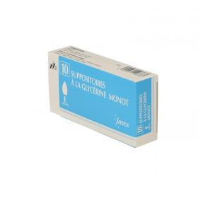 MERCK Suppositoire à la glycérine monot 10 unités