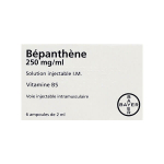 BAYER Bépanthène 250 mg/ml solution injectable I.M. boîte de 6 ampoules de 2 ml