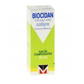 MENARINI FRANCE Biocidan 0,25 pour mille collyre flacon compte-gouttes de 10 ml