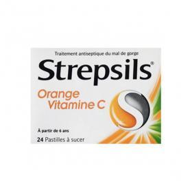 RECKITT BENCKISER Strepsils orange vitamine C boîte de 24 pastilles