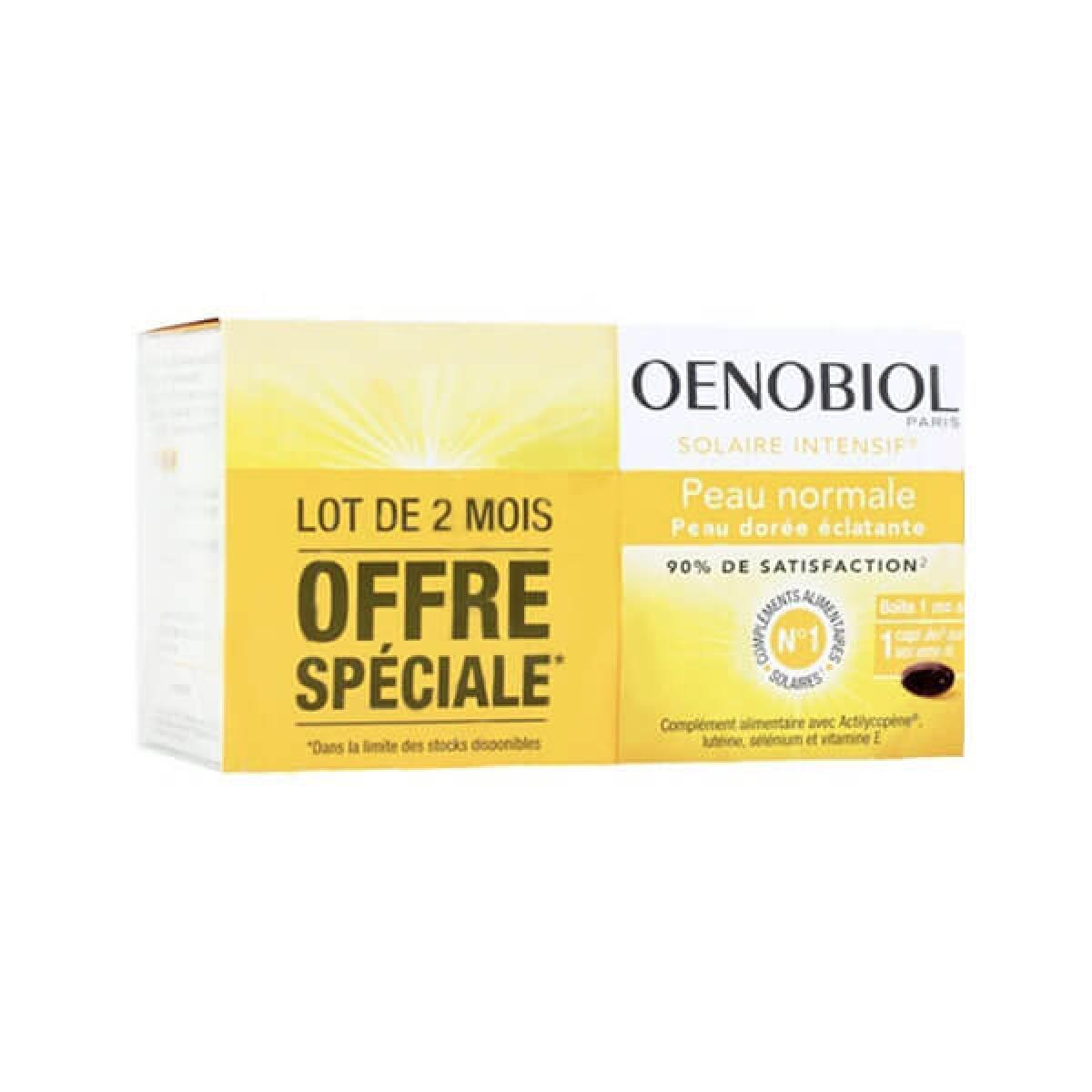 OENOBIOL Solaire intensif peau normale lot 2x30 capsules