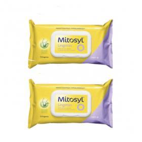 MITOSYL Lingettes biodégradables à l'aloe vera lot 2x70 unités
