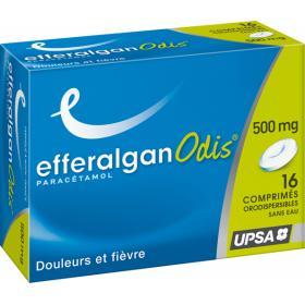 Efferalgan odis 500mg 16 comprimés orodispersibles