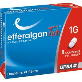 EFFERALGAN Tab 1g 8 comprimés pelliculés