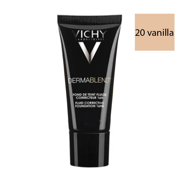 vichy dermablend fond de teint fluide teinte 20 vanilla 30ml parapharmacie pharmarket. Black Bedroom Furniture Sets. Home Design Ideas