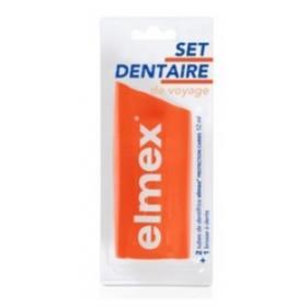 ELMEX Set dentaire de voyage 2 tubes + 1 brosse à dents
