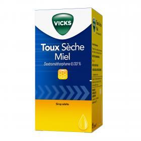 Toux sèche miel dextrométhorphane 0,133% 120ml