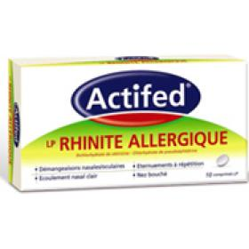 Actifed lp rhinite allergique 10 comprimés