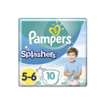 PAMPERS Splashers 10 couches-culottes de bain jetables taille 5-6 (14 kg+)