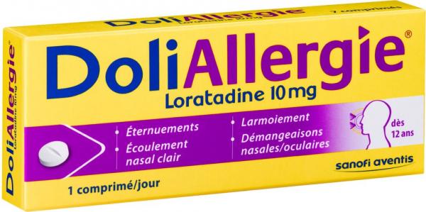 doliprane doli allergie loratadine 10mg 10 comprim s m dicaments pharmarket. Black Bedroom Furniture Sets. Home Design Ideas