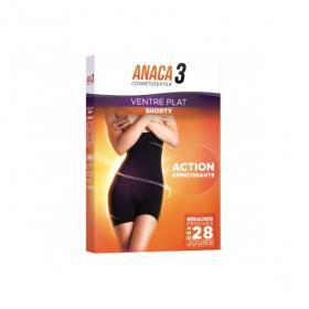 ANACA 3 Cosmétotextile ventre plat shorty S-M