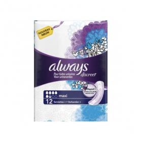 ALWAYS Discreet maxi 12 serviettes hygiéniques