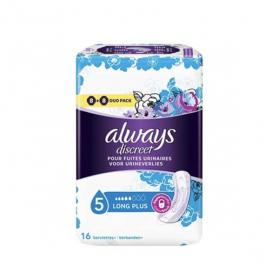 ALWAYS Discreet long plus 16 serviettes hygiéniques