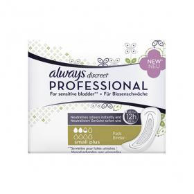 ALWAYS Discreet professional small plus 16 serviettes hygiéniques