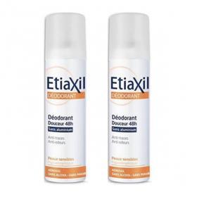 ETIAXIL Déodorant douceur 48h sans aluminium lot 2x150ml