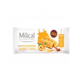 MILICAL Go repas minceur 2 barres abricot