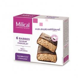 MILICAL Hyperprotéiné 6 barres minceur chocolat