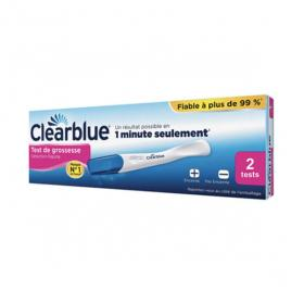 CLEARBLUE Test de grossesse détextion rapide 2 tests