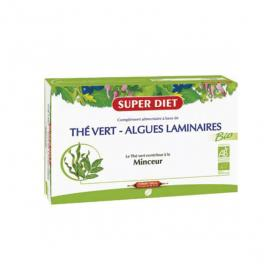 SUPER DIET Thé vert algues laminaires bio 20 ampoules