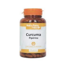 NAT & FORM Curcuma pipérine 200 gélules