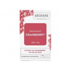 GRANIONS Cranberry 360mg 40 gélules