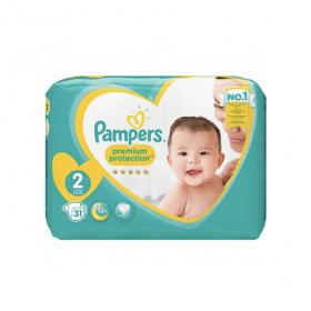 PAMPERS New baby taille 2 (3-6kg) 31 couches