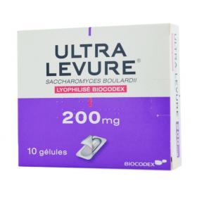 Ultra levure 200mg 10 gélules